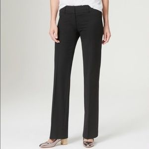 LOFT Ann Taylor Black Straight Leg Dress Pants